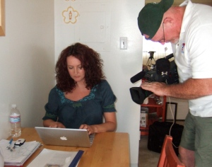 lisa-being-filmed-for-pbs-about-her-guardian-blog-and-film-maconies-list